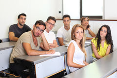 Students sitting in class room Royalty Free Stock Photography