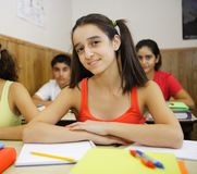 Students sitting in classroom Stock Photos