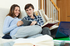 Students  sitting on the sofa Royalty Free Stock Photography
