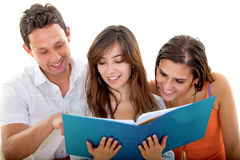 Students smiling Royalty Free Stock Image