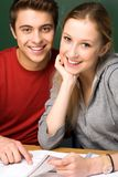 Students smiling Royalty Free Stock Photo