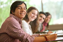 Students smiling Royalty Free Stock Images