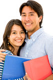 Students smiling - isolated Stock Photo