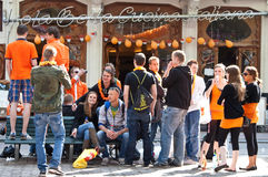 Students socializing - Koninginnedag 2011 Royalty Free Stock Images