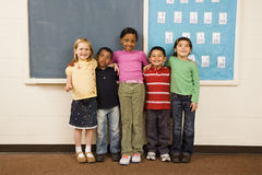 Students Standing in Classroom. Royalty Free Stock Photo