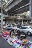 Students street shop in Bangkok Royalty Free Stock Image