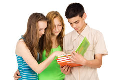 Students study the book Royalty Free Stock Images