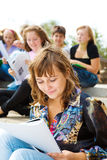 Students studying. In the outdoor Stock Image