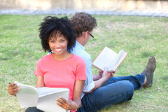 Students studying Royalty Free Stock Images