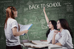 Students studying in the classroom Royalty Free Stock Photo