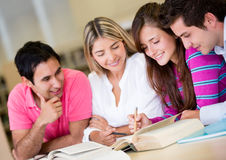 Students studying for an exam Royalty Free Stock Images