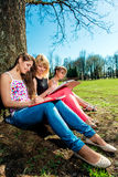 Students studying outdoors Royalty Free Stock Photography