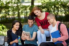 Students studying outside Royalty Free Stock Photo