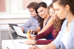 Students studying at school Stock Images