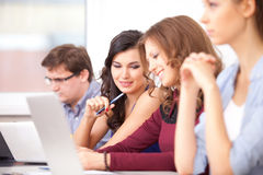 Students studying at school Royalty Free Stock Photos