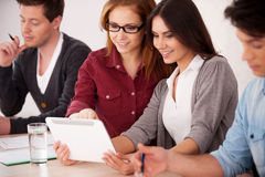 Students studying together. Royalty Free Stock Photography
