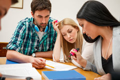 Students studying together Stock Images