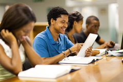 Students tablet computer Royalty Free Stock Photo