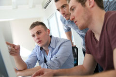 Students taking course in digital design royalty free stock photos