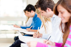 Students taking a exam Royalty Free Stock Photos