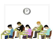 Students taking an exam Royalty Free Stock Image