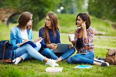 Students talking Stock Photos