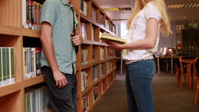 Students talking together stock footage