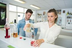 Students in tasting class Stock Images