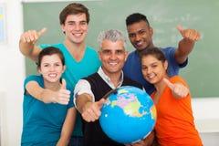 students teacher classroom Stock Image