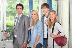 Students and teacher Royalty Free Stock Image
