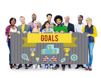 Students Team Holding Whiteboard Togetherness Concept Royalty Free Stock Photo