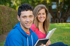 Students with Text books Royalty Free Stock Photography