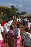 Students on their way to school, Rwanda Royalty Free Stock Photo