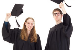 Students throwing their hats Stock Photography