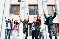 Students to complete academic year Royalty Free Stock Images