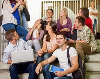 Students together on break Royalty Free Stock Photos