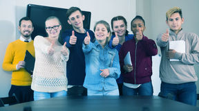 Students totally enjoying their studies Royalty Free Stock Photography