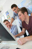 Students in training course with instructor Stock Photography