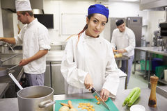 Students Training To Work In Catering Industry Royalty Free Stock Image