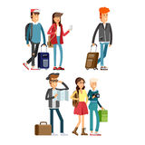 Students traveling vocation time Stock Photography