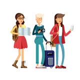 Students traveling vocation time Royalty Free Stock Images