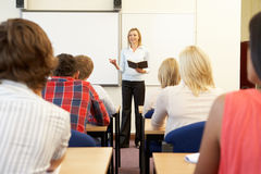 Students and tutor in class Royalty Free Stock Photography