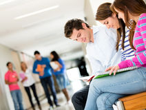 Students at the university Stock Images