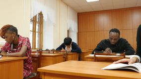 Students at University Classes. Group of Students at University on Classes stock footage