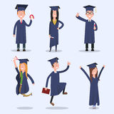 Students at the University of. Flat. Students at the University of. EPS 10. Vector Stock Image