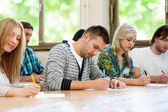 Students at the university Stock Photography