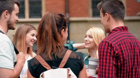 Students at the university stock footage