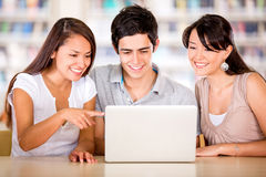 Students using a computer Royalty Free Stock Image