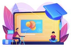 Online education platform concept vector illustration.