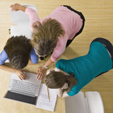 Students using laptop in classroom Royalty Free Stock Image